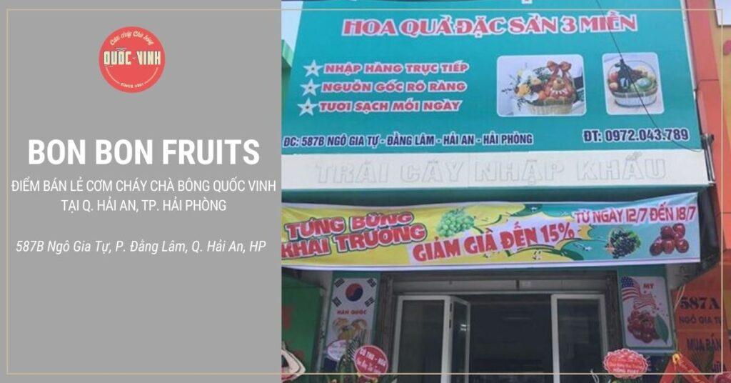 Bon Bon Fruits bán lẻ cơm cháy chà bông Quốc Vinh tại Hải Phòng