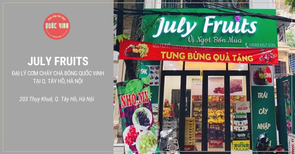 July Fruits - Đại lý cơm cháy chà bông Quốc Vinh tại Tây Hồ, Hà Nội